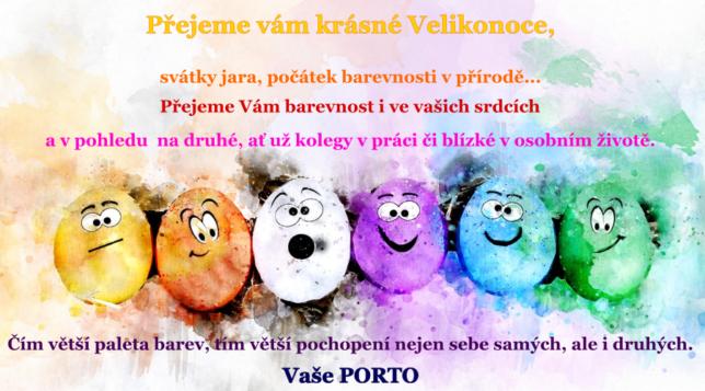 Veselé a hlavně barevné Velikonoce přeje Porto !